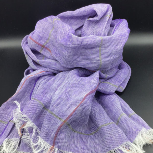 100% European ultra violet linen shawl. Weightless and fast drying. Generous size. Perfect vacation piece. Day to evening-ordicheritage.is